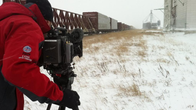 Winter is here! Filming in the extreme cold